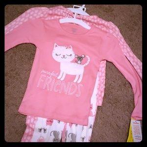 3T girls 4 piece pajama set